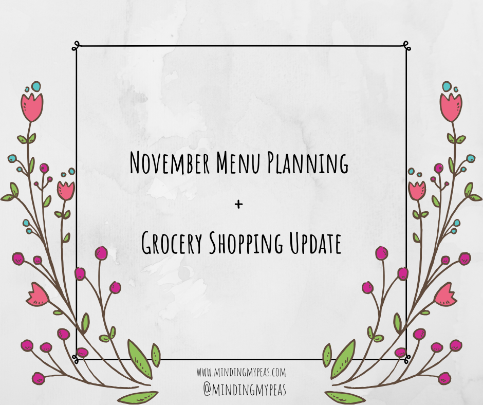 menu plan and grocery shop november